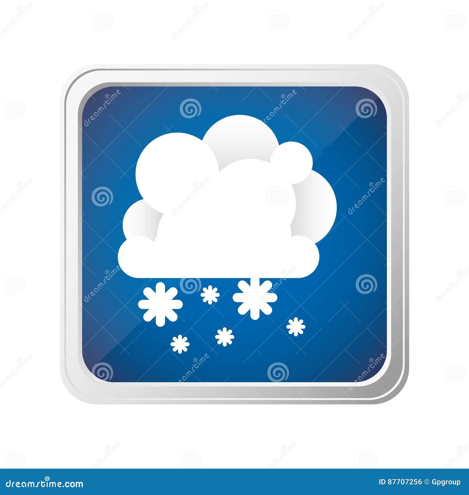 Nuage d emblème avec l icône de neige