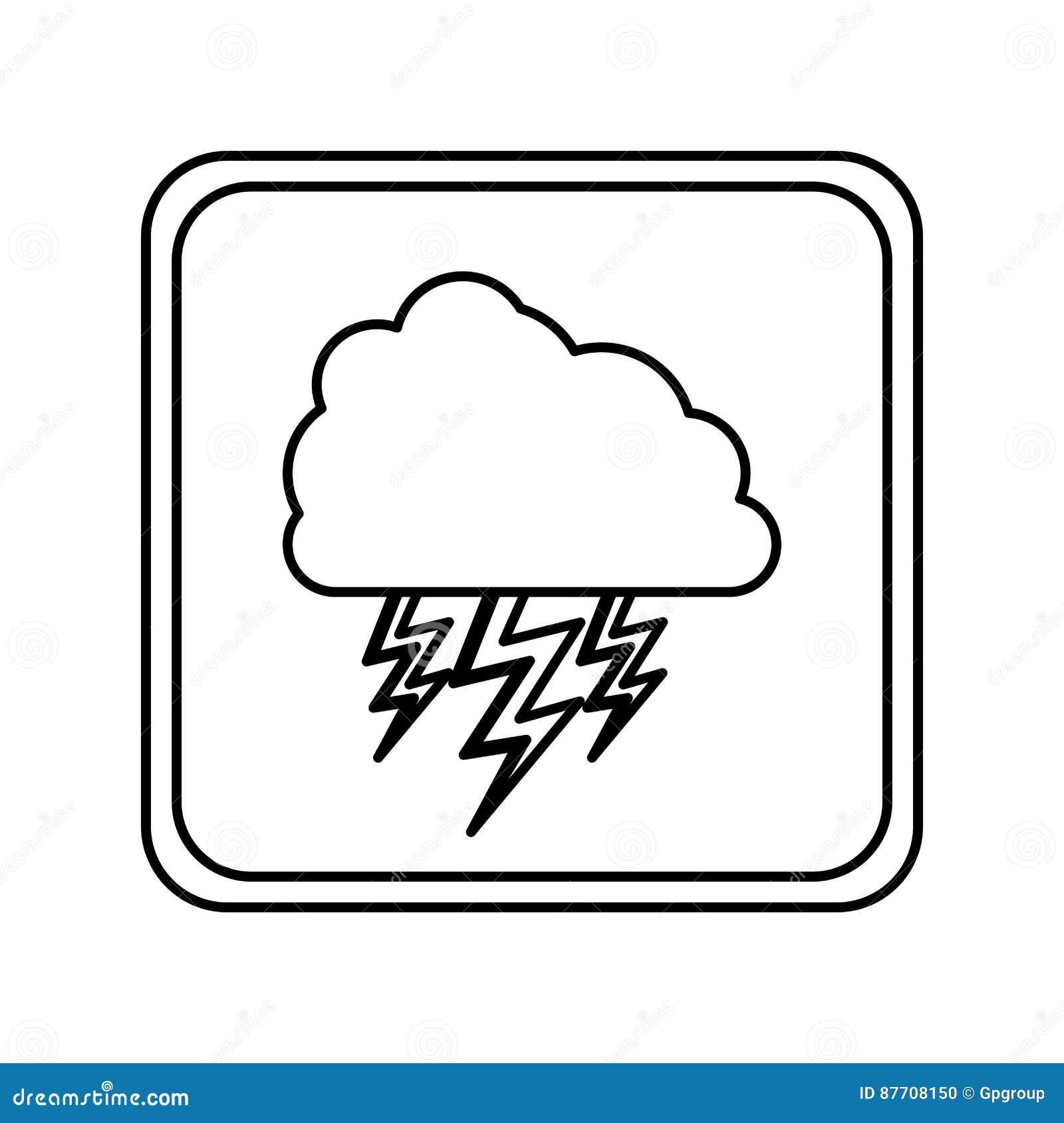 Nuage d emblème avec l icône de rayon