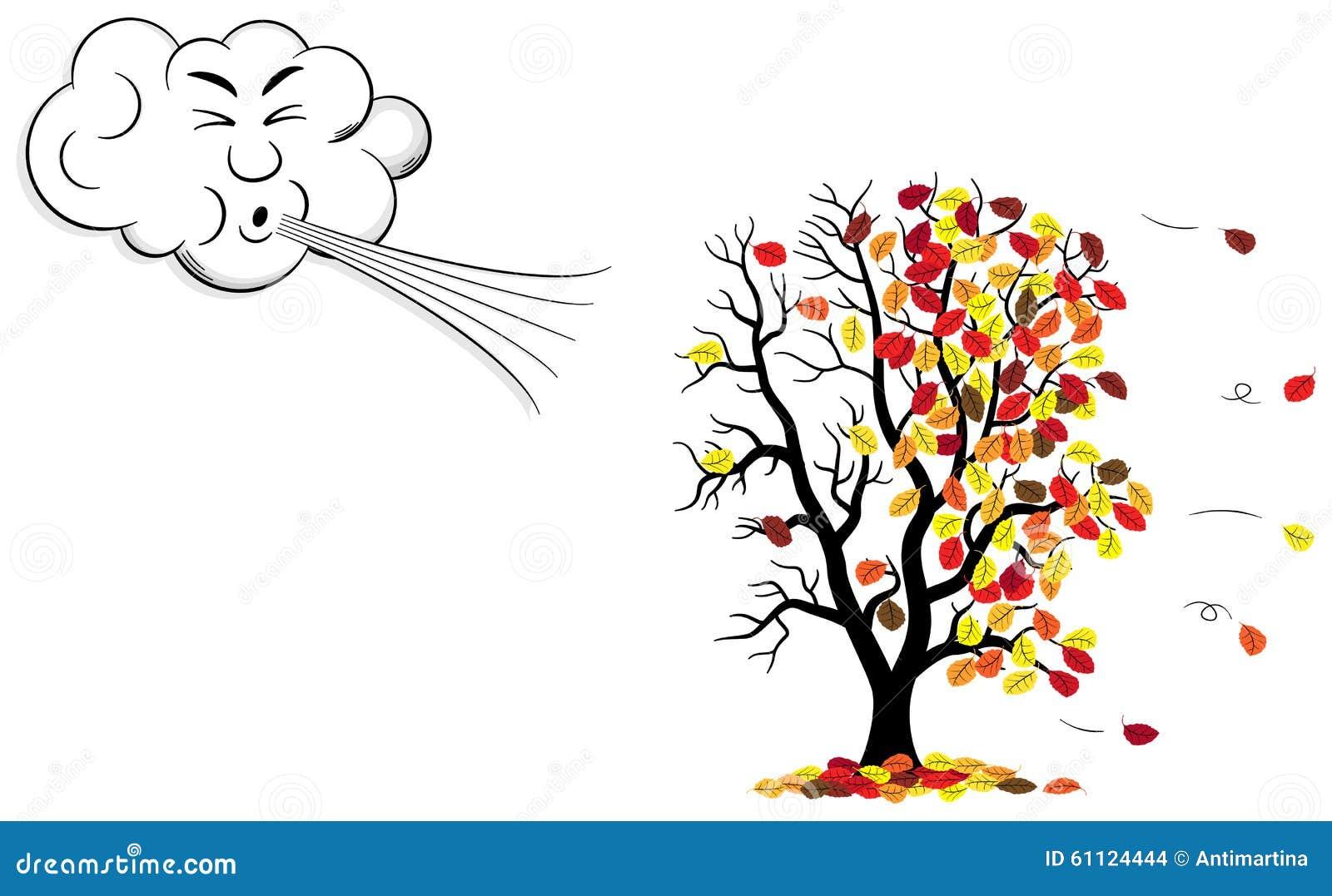 Nuage de bande dessin e qui souffle le vent un arbre qui - Nuage qui souffle ...