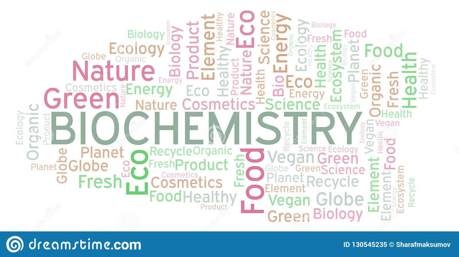Nuage de mot de biochimie