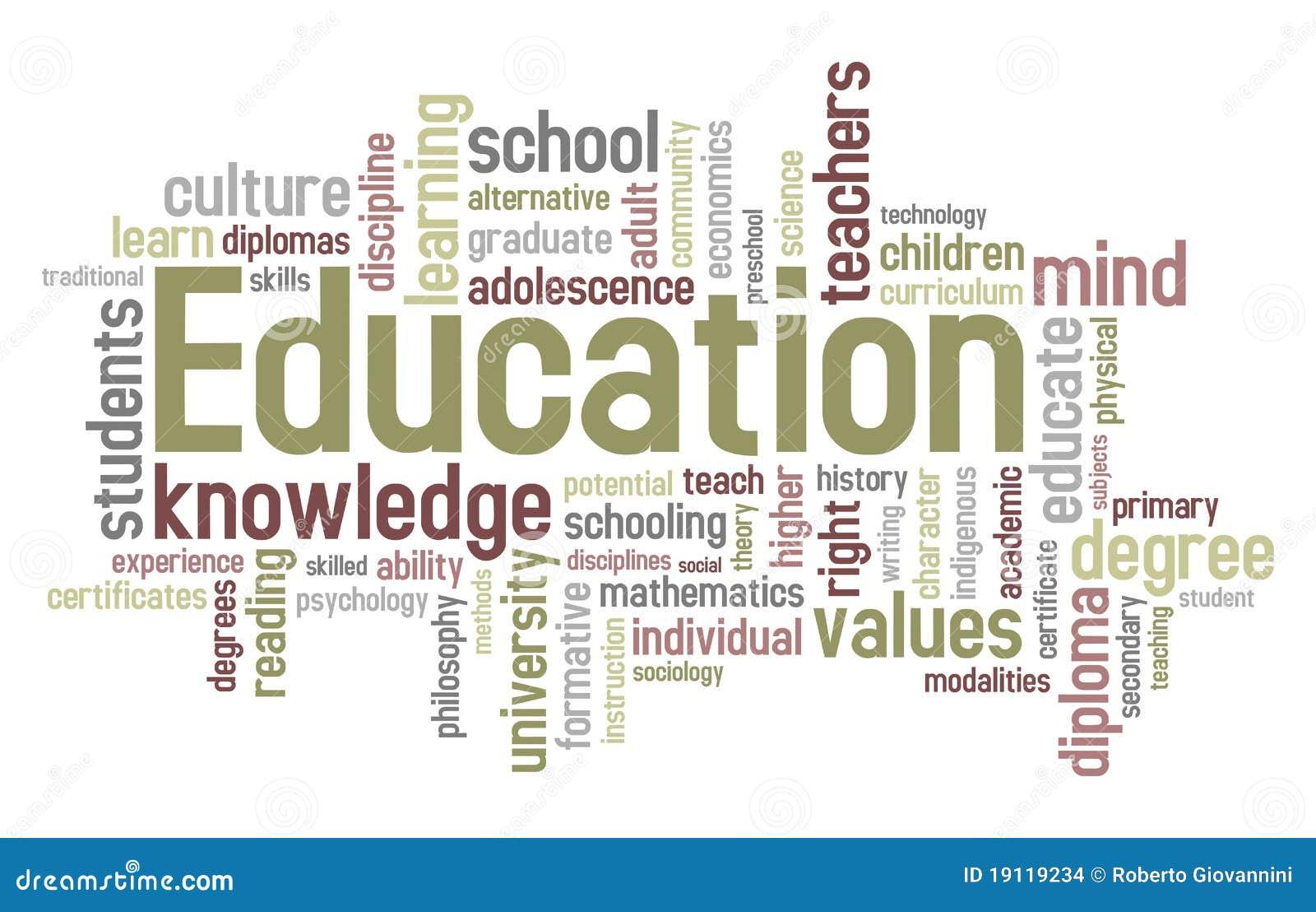Nuage de mot d éducation