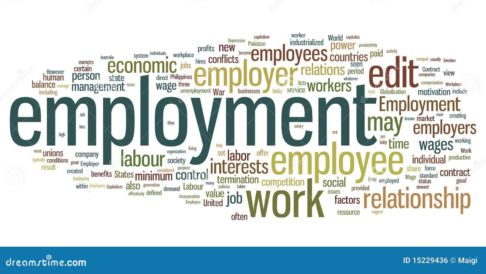 Nuage de mot d emploi