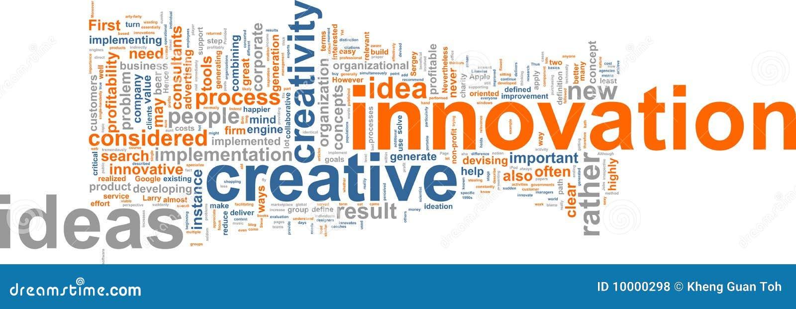 Nuage de mot d innovation