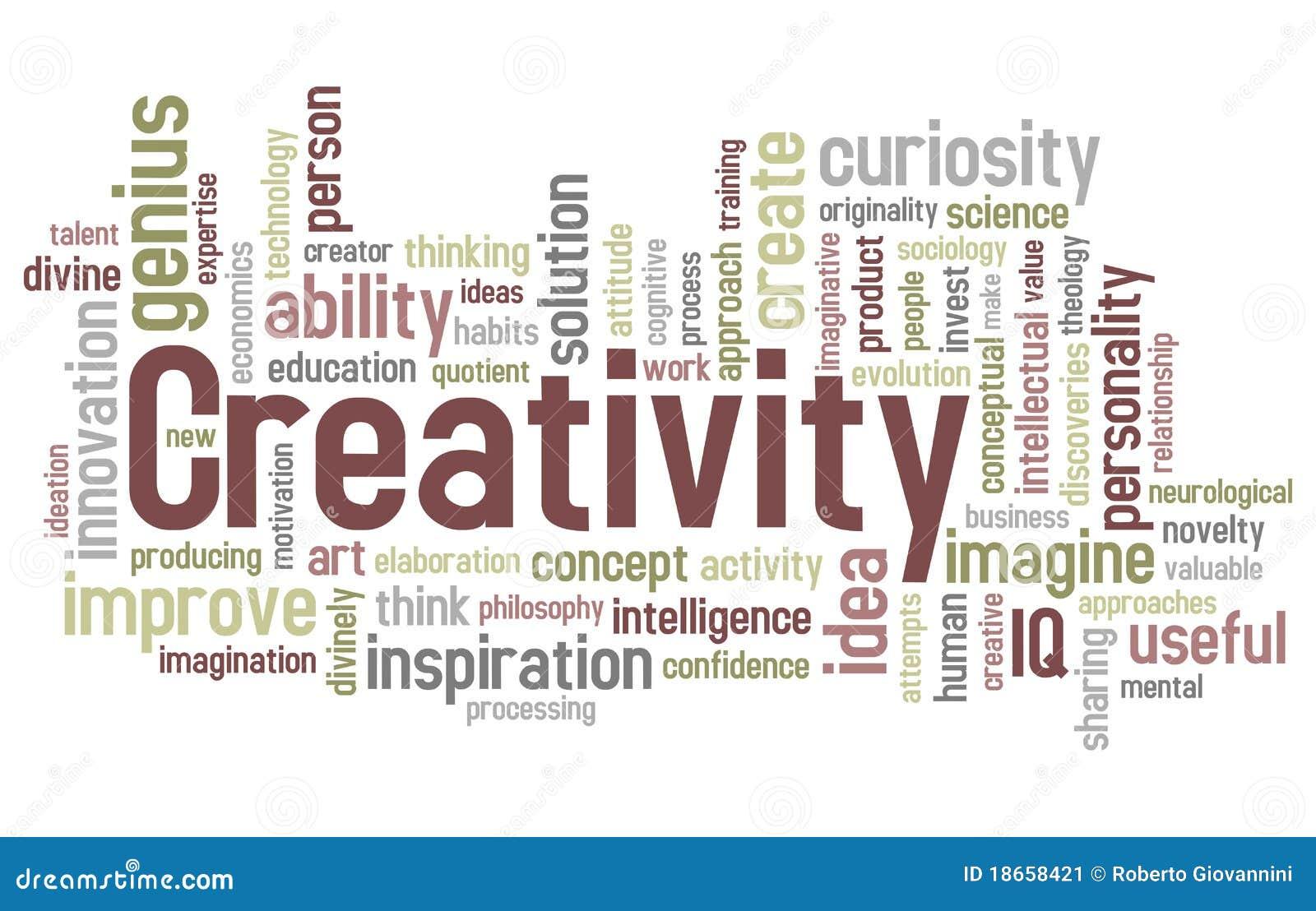 Nuage de mot de créativité