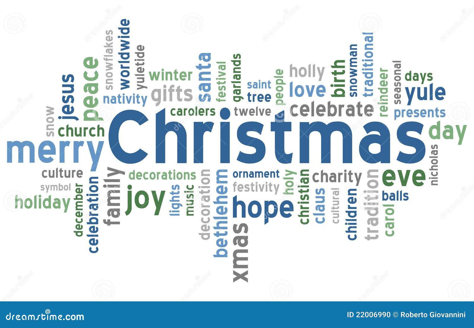 Nuage de mot de Noël