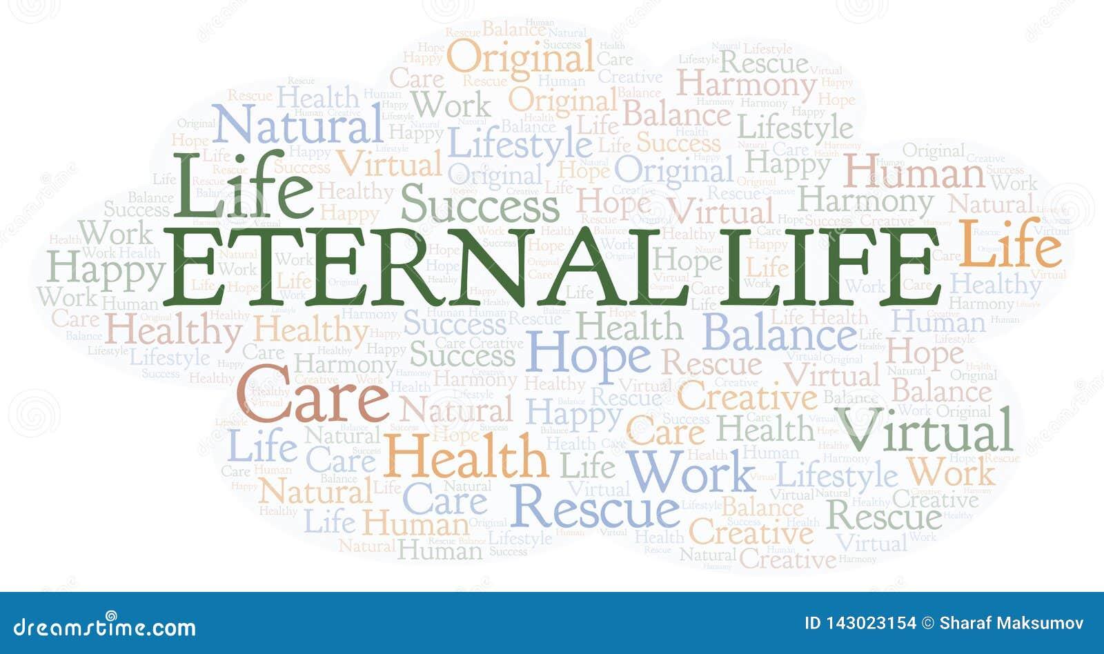 Nuage de mot de la vie éternelle