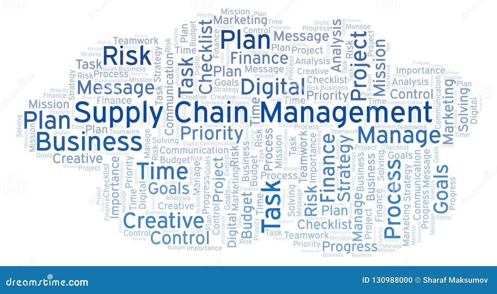 Nuage de mot de supply chain management, fait avec le texte seulement
