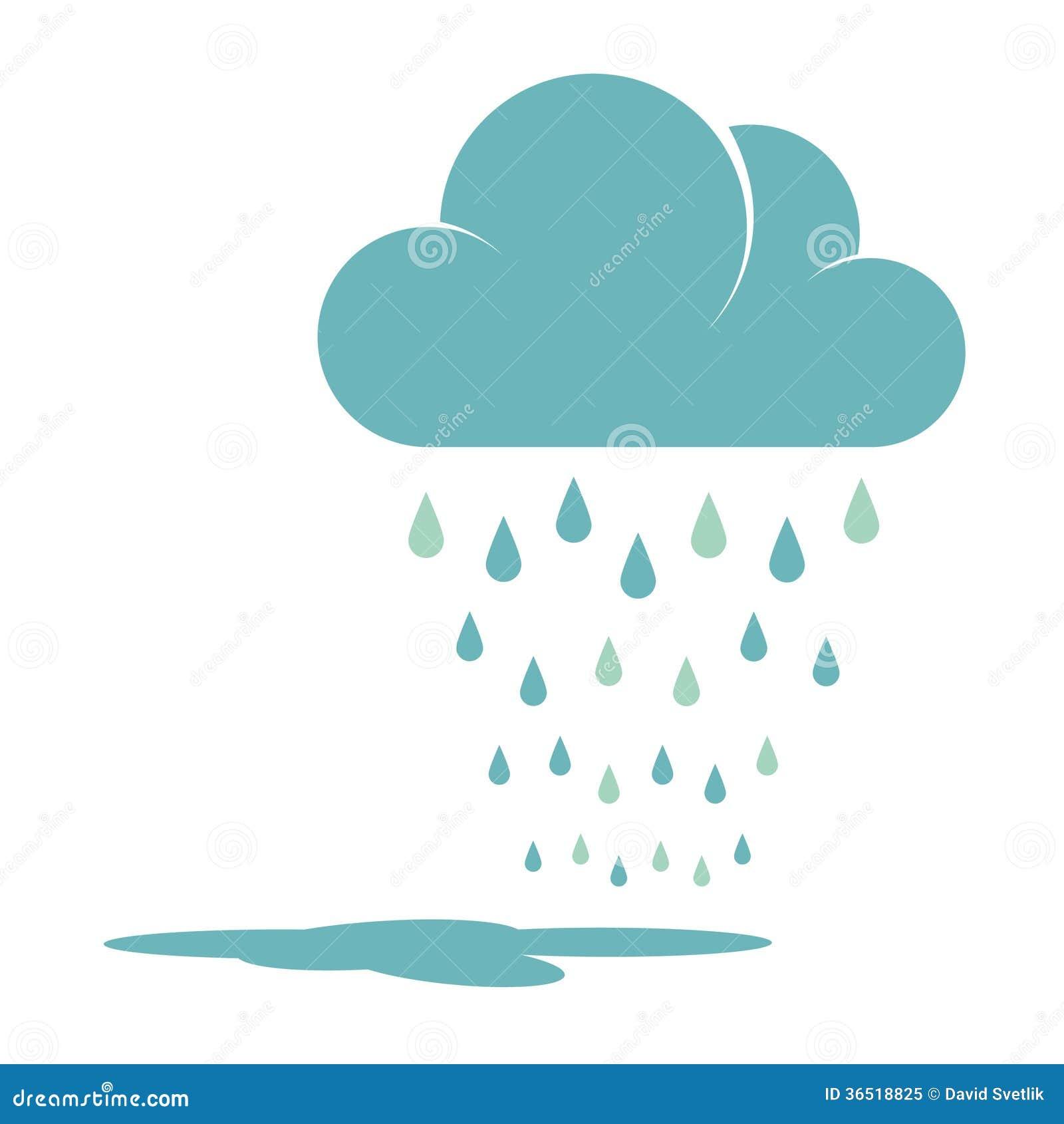 Nuage de pluie bleu