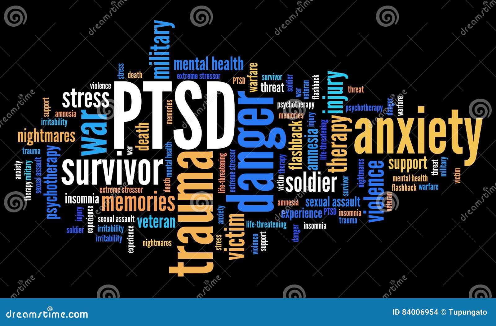 Nuage de PTSD Word