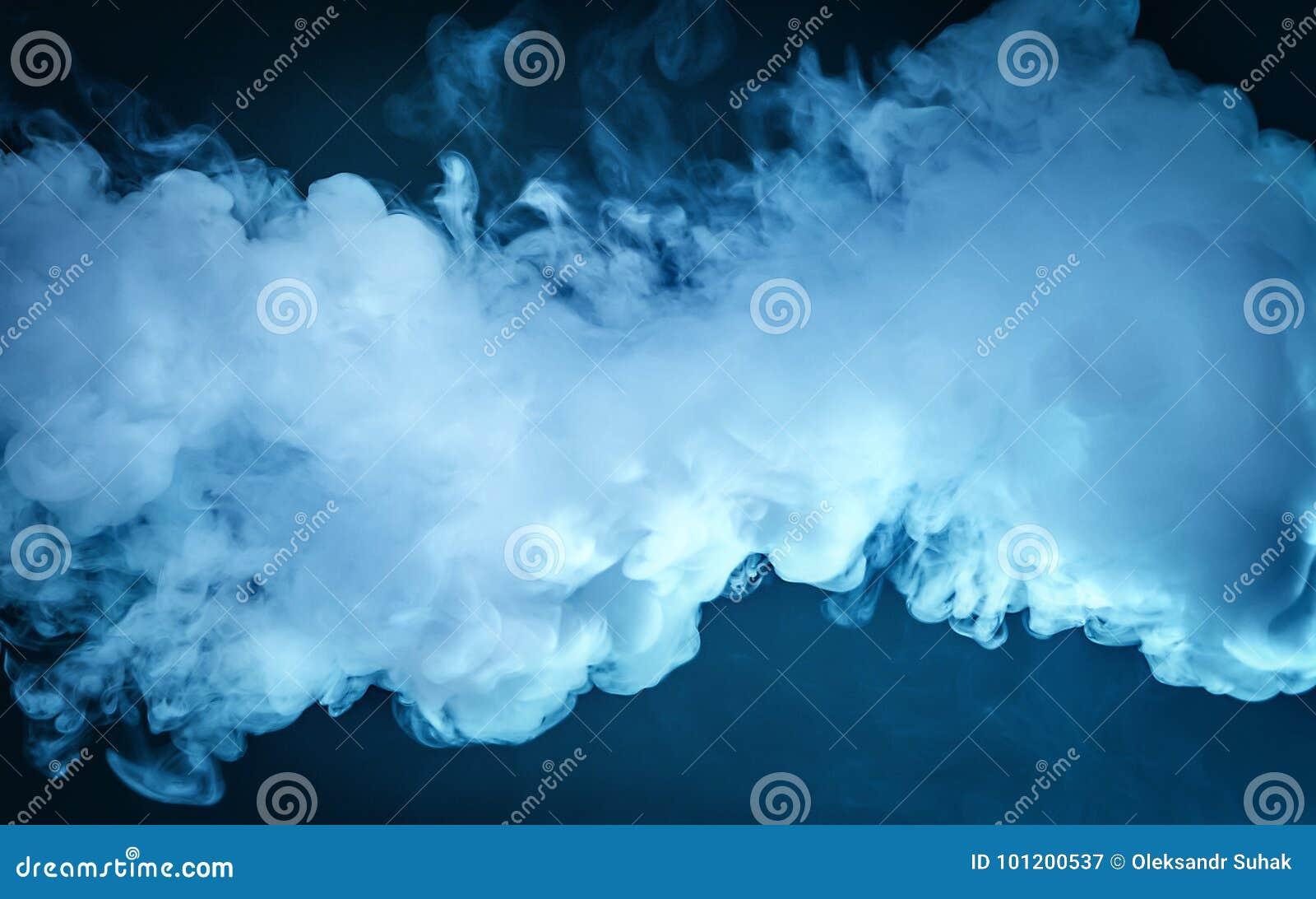 Nuage de vapeur Fond bleu-foncé