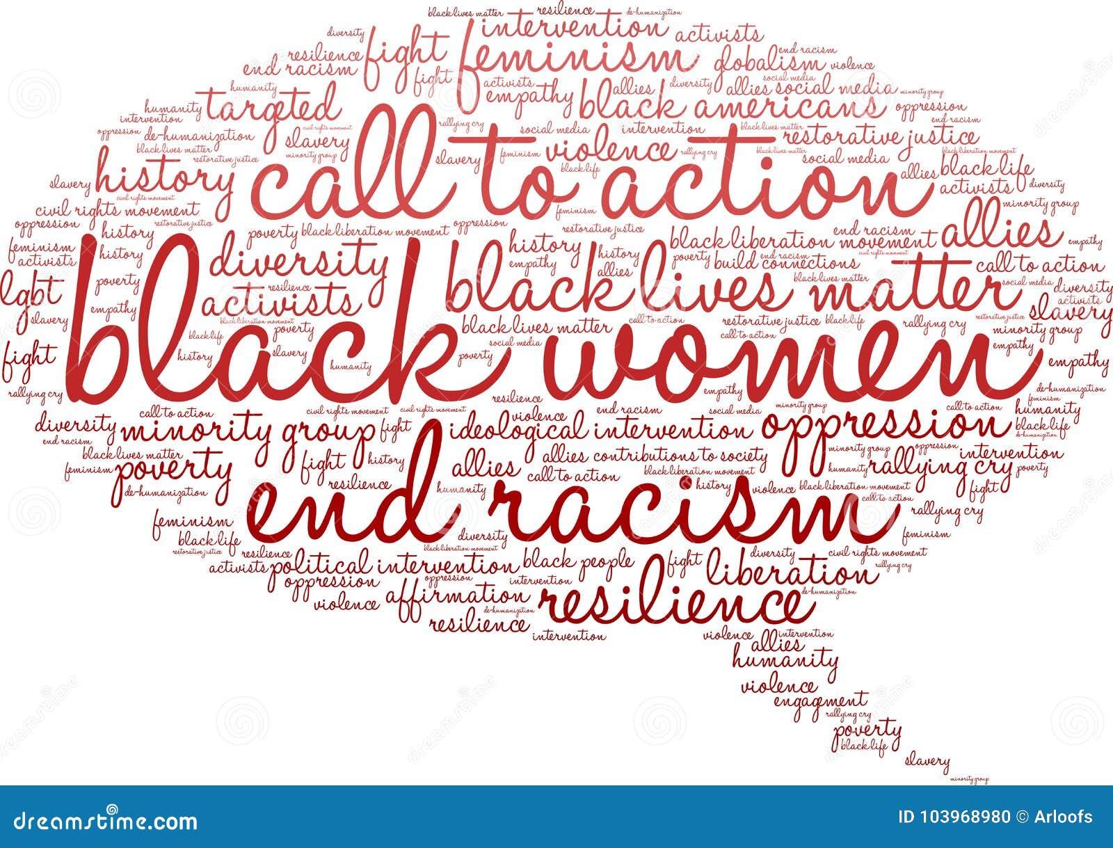 Nuage de Word de femmes de couleur