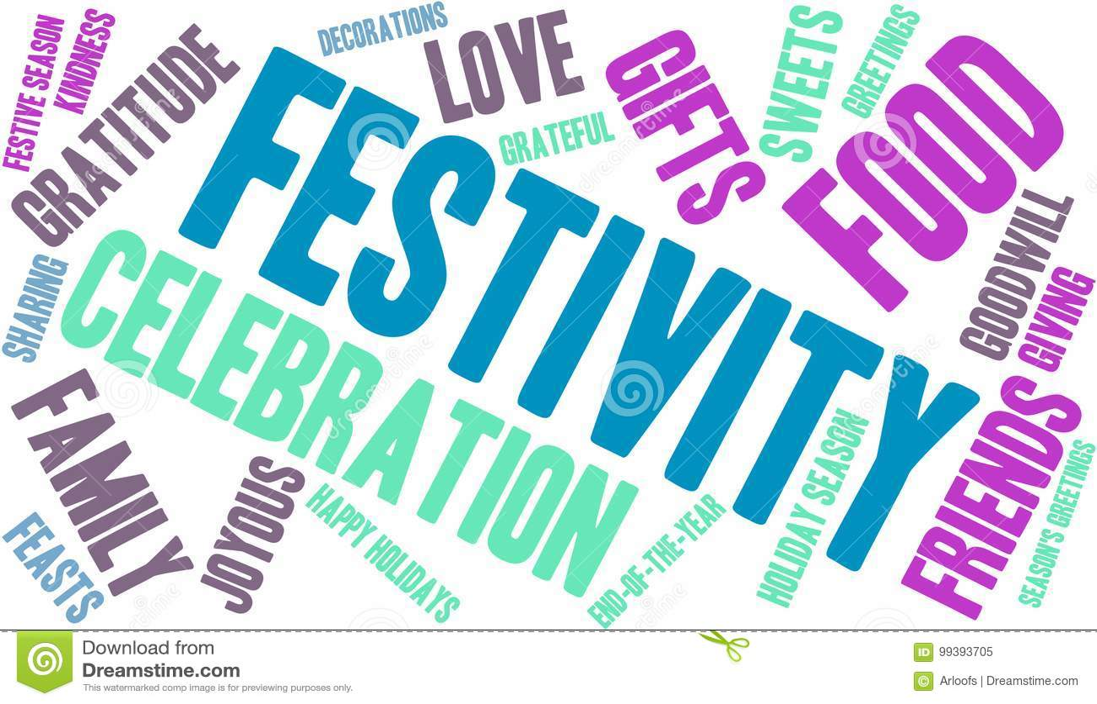 Nuage de Word de festivité