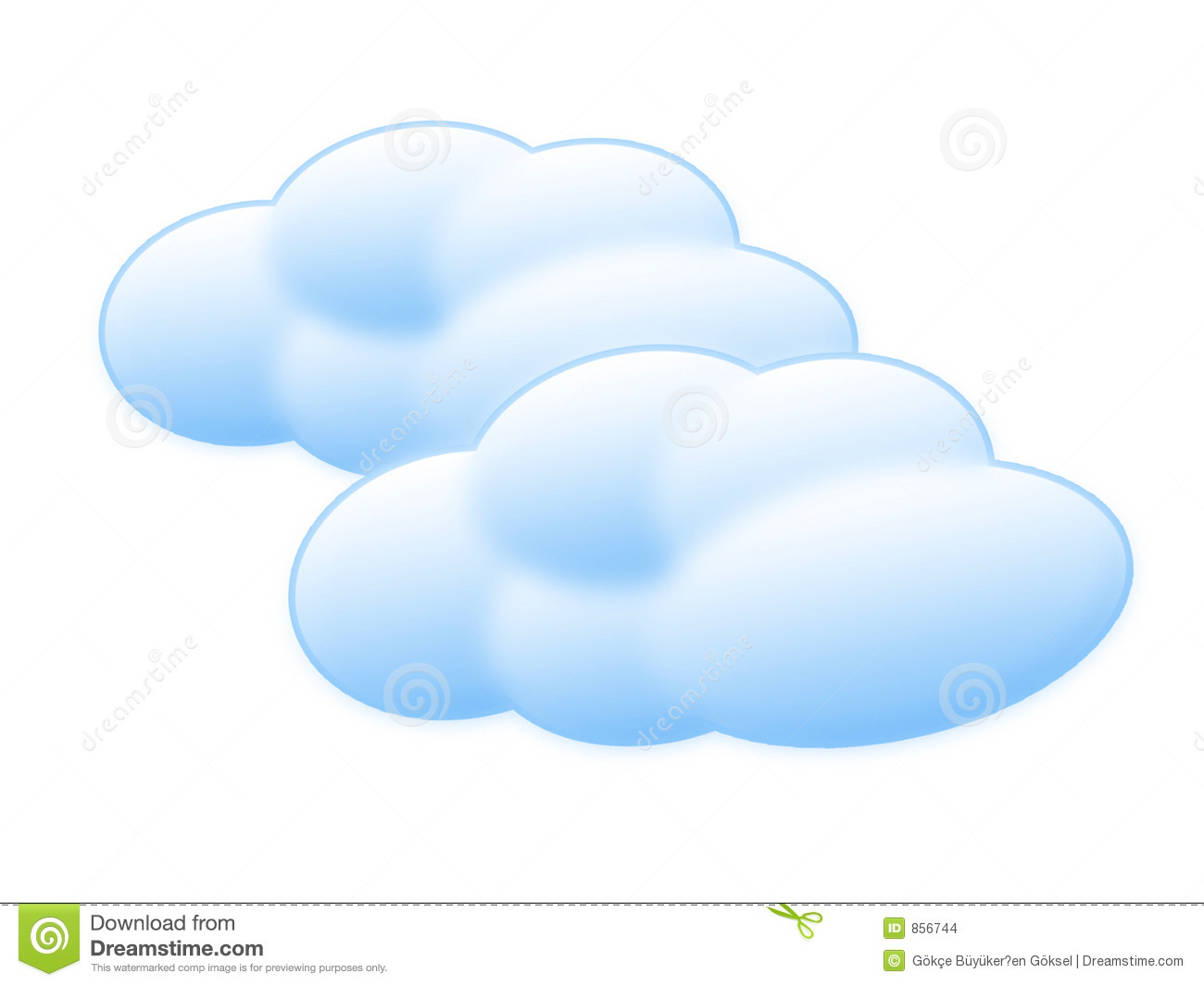 Nuages de dessin anim illustration stock illustration du - Dessin de nuage ...
