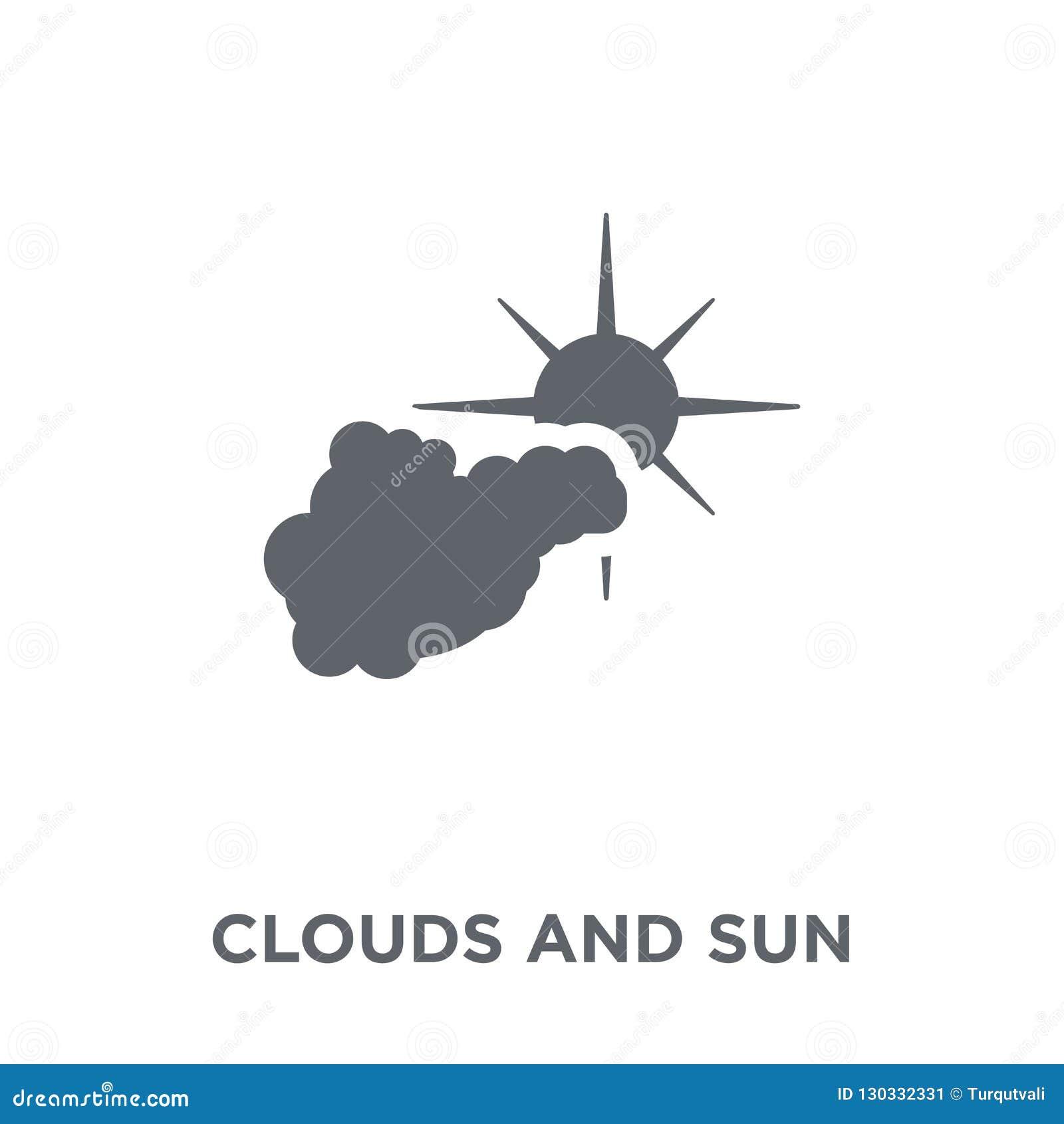 Nuages et icône du soleil de collection de temps