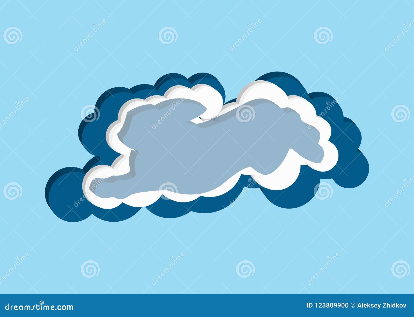 Nuages sous forme de lièvre Dirigez la couleur bleue et blanche de nuage d icônes sur un fond bleu Le ciel est une collection den