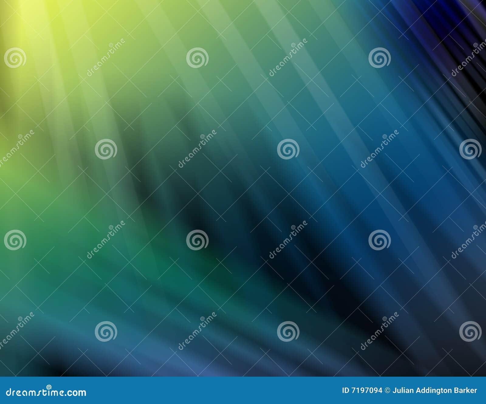 Nuances abstraites de vert et de bleu