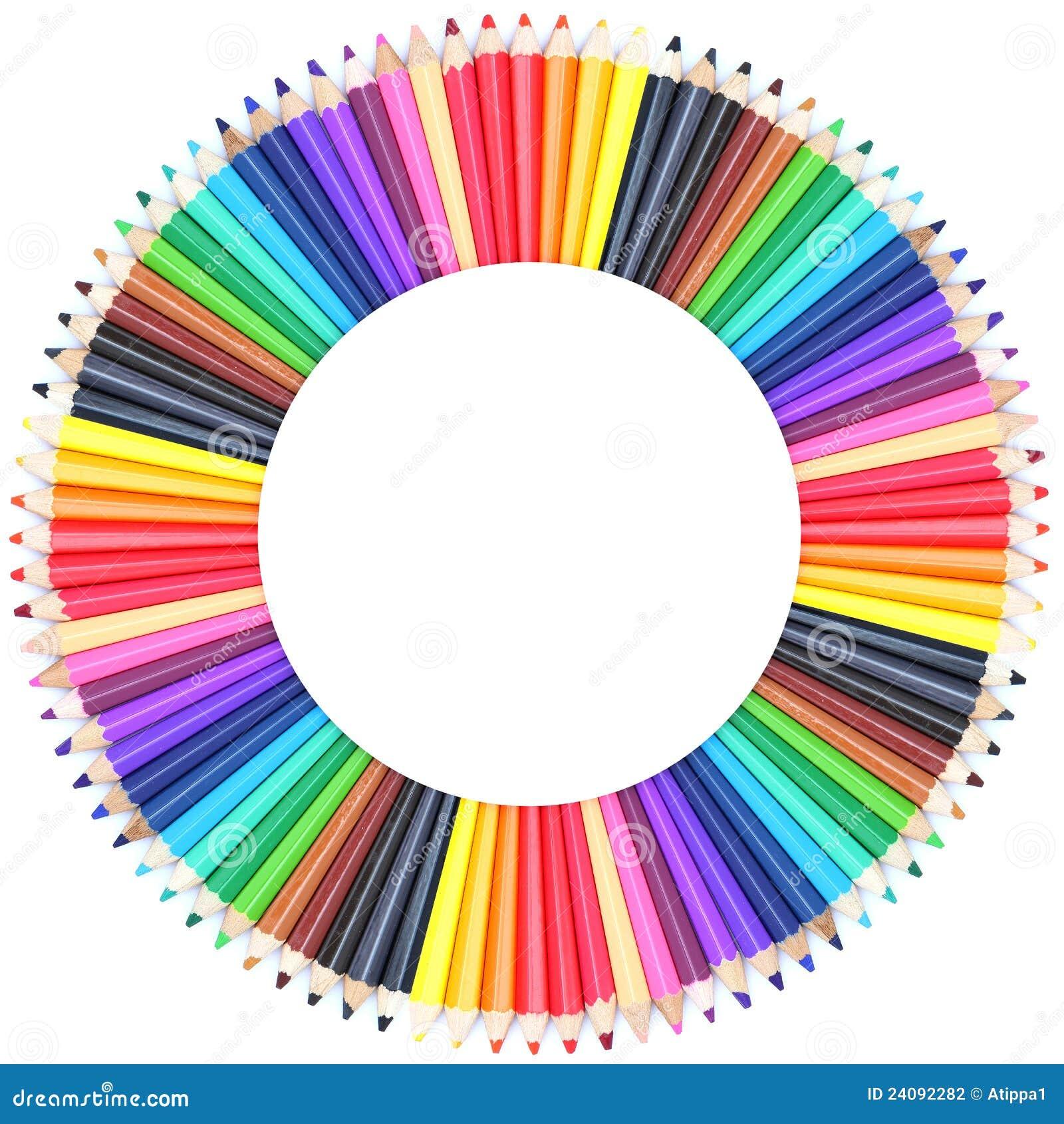 nuancier de cercle fait de crayons de couleur photographie stock image 24092282. Black Bedroom Furniture Sets. Home Design Ideas