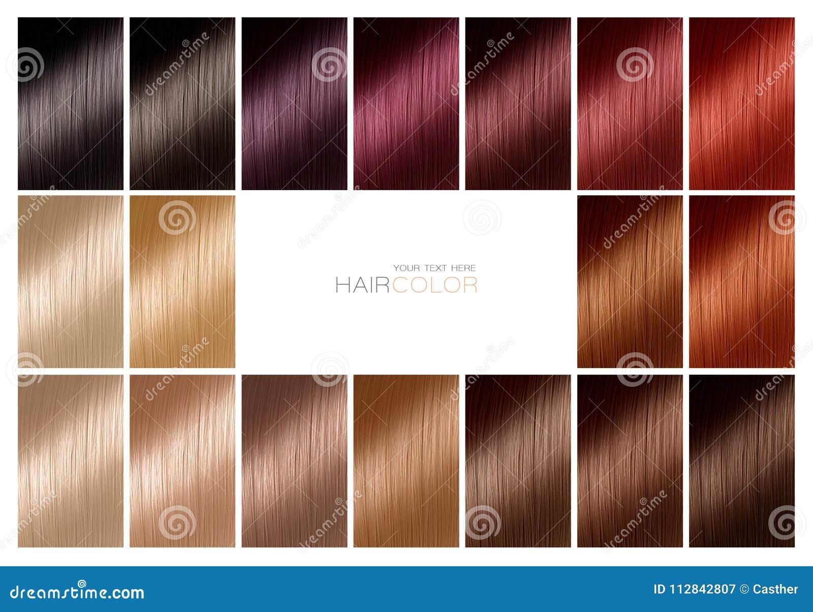 Differente couleur teinture pour cheveux