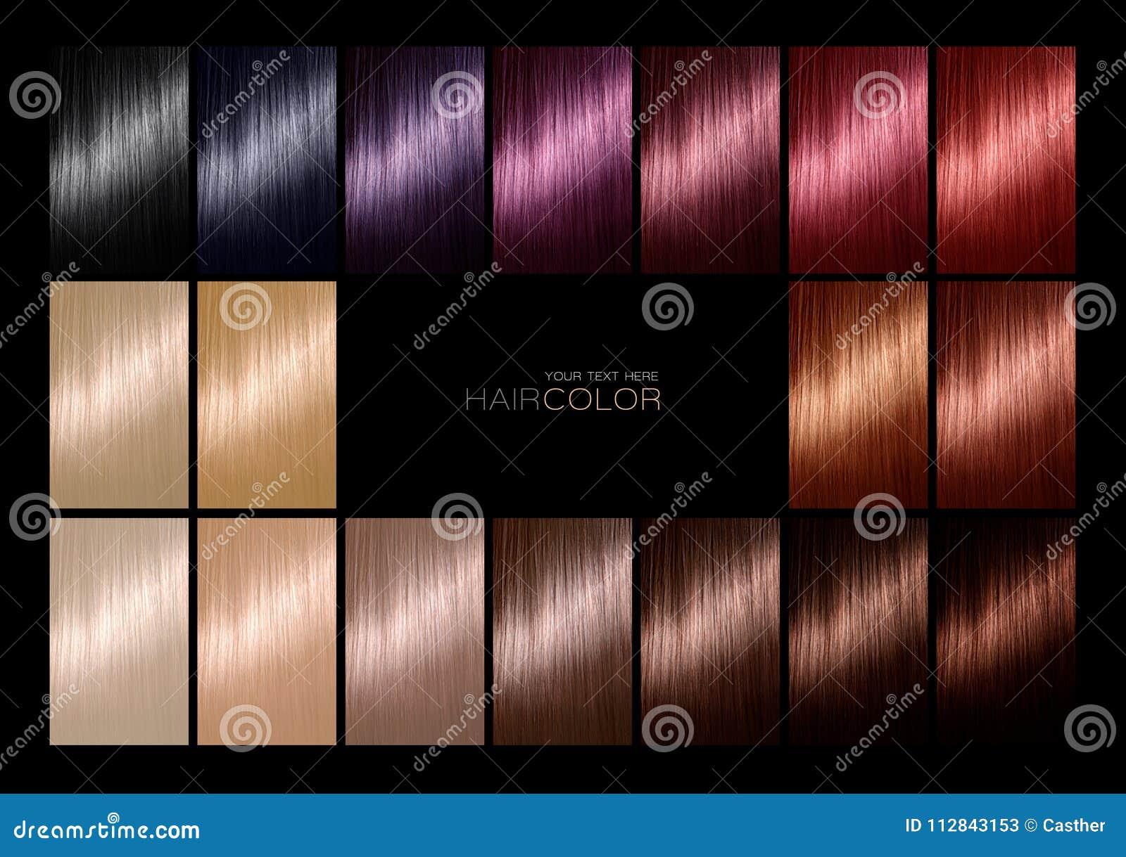 Nuancier Pour La Teinture Capillaire Teintes Palette De Couleurs De