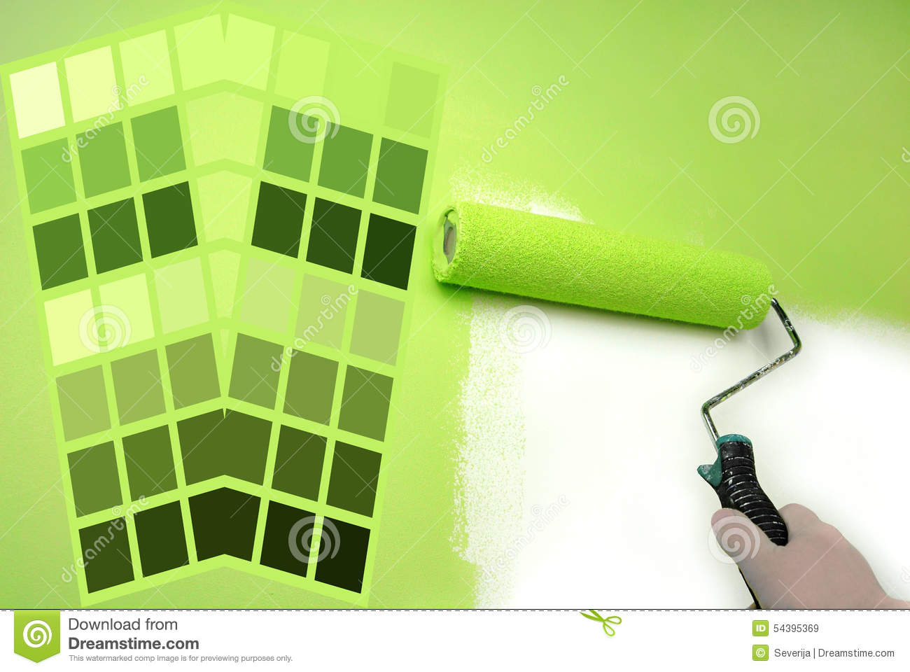 Nuancier Vert Image Stock Image Du Home Am Lioration 54395369