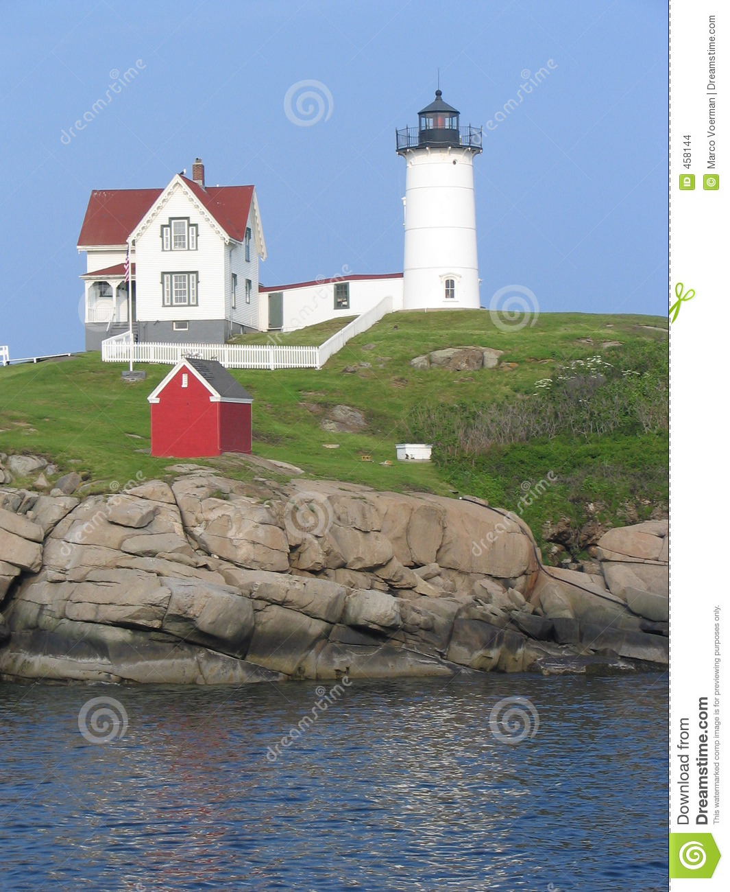 Download Nubble-1 stock photo. Image of lighthouse, navigation, ocean - 458144