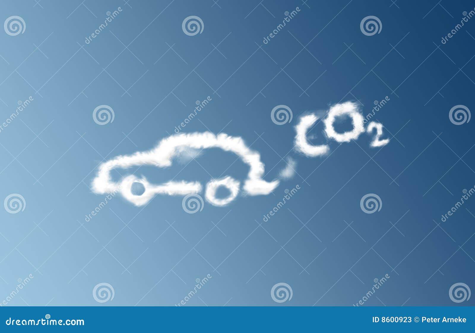 Nube de la emisión del coche del CO2