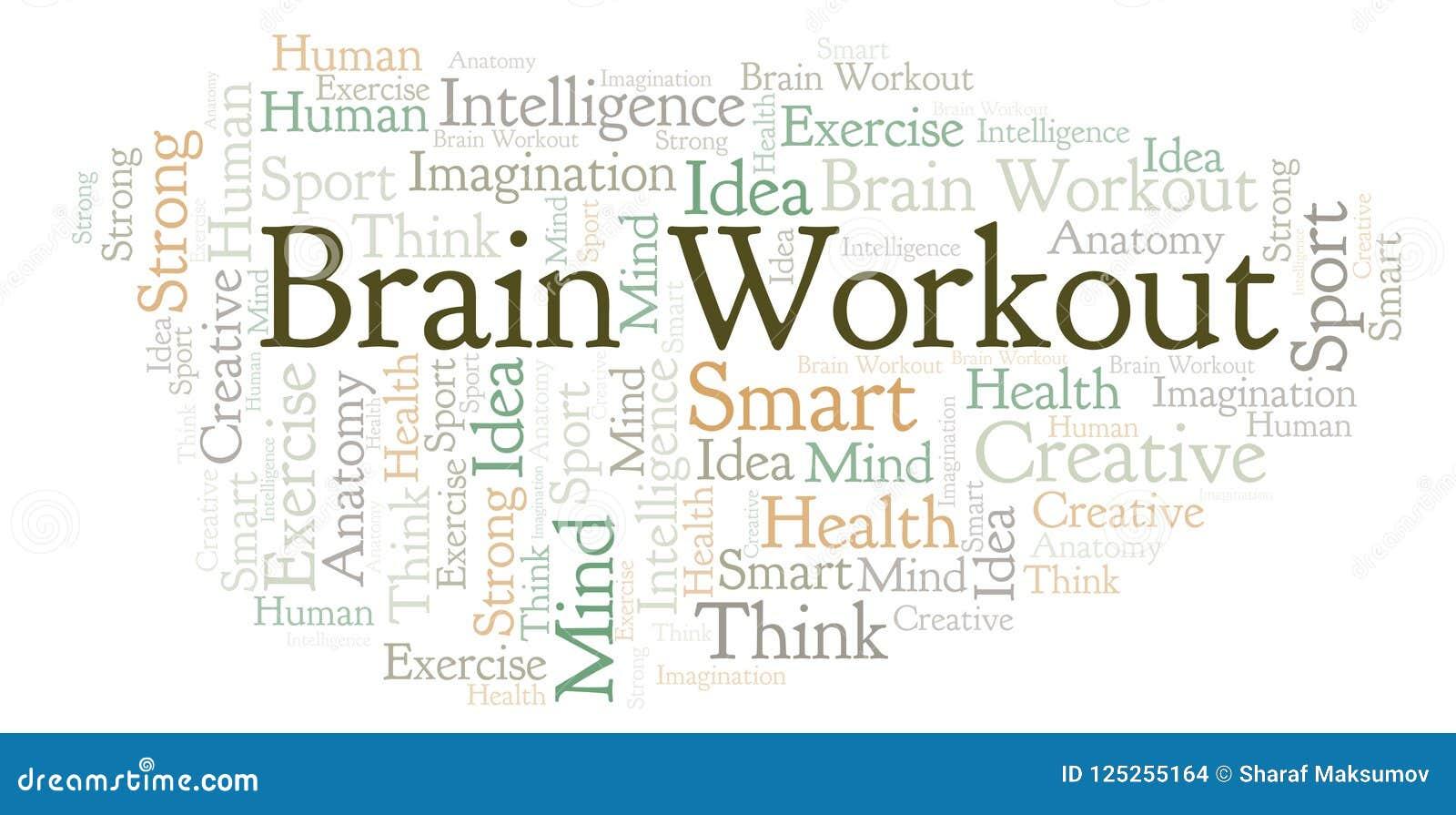 Nube de la palabra de Brain Workout