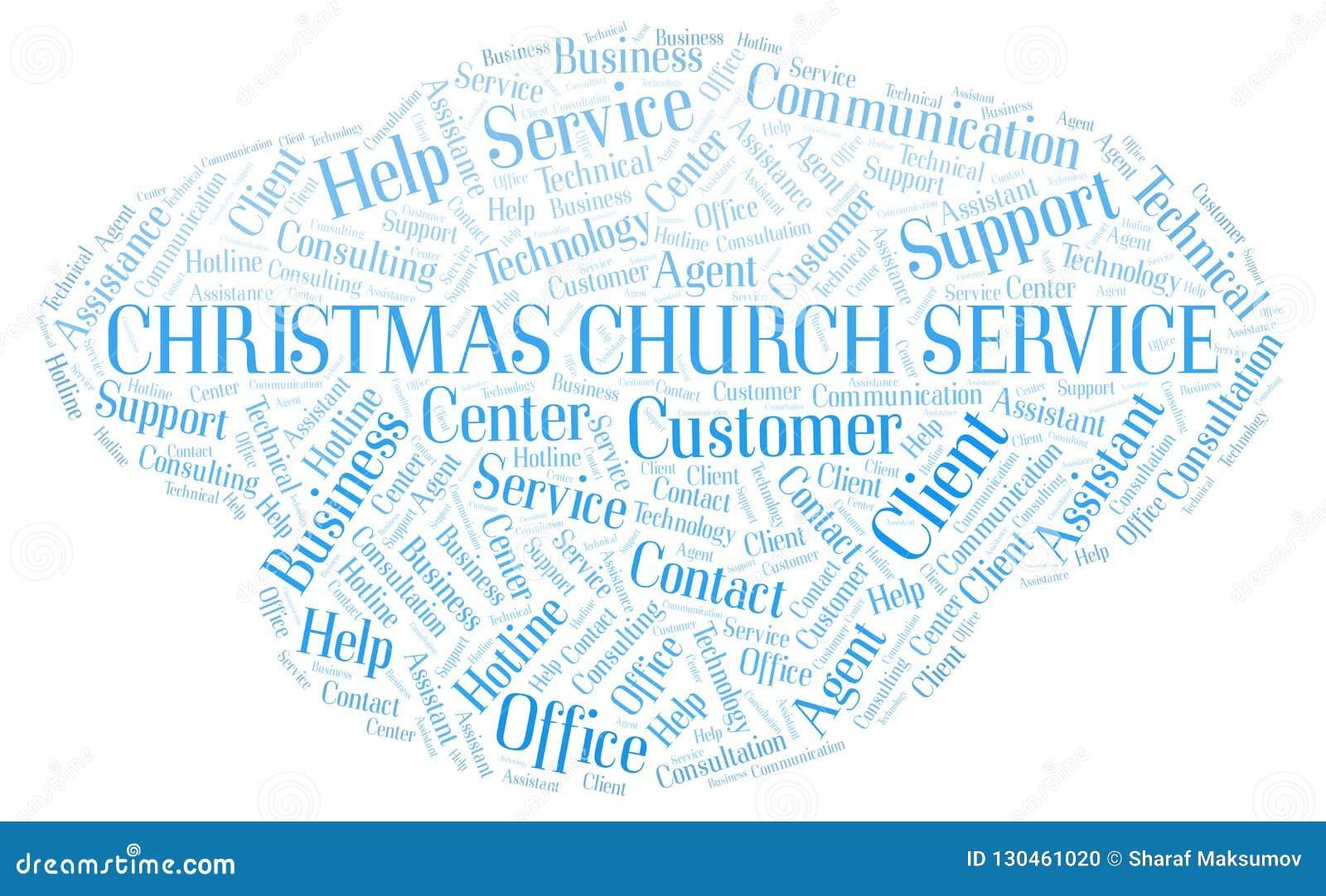 Nube de la palabra de culto de la Navidad