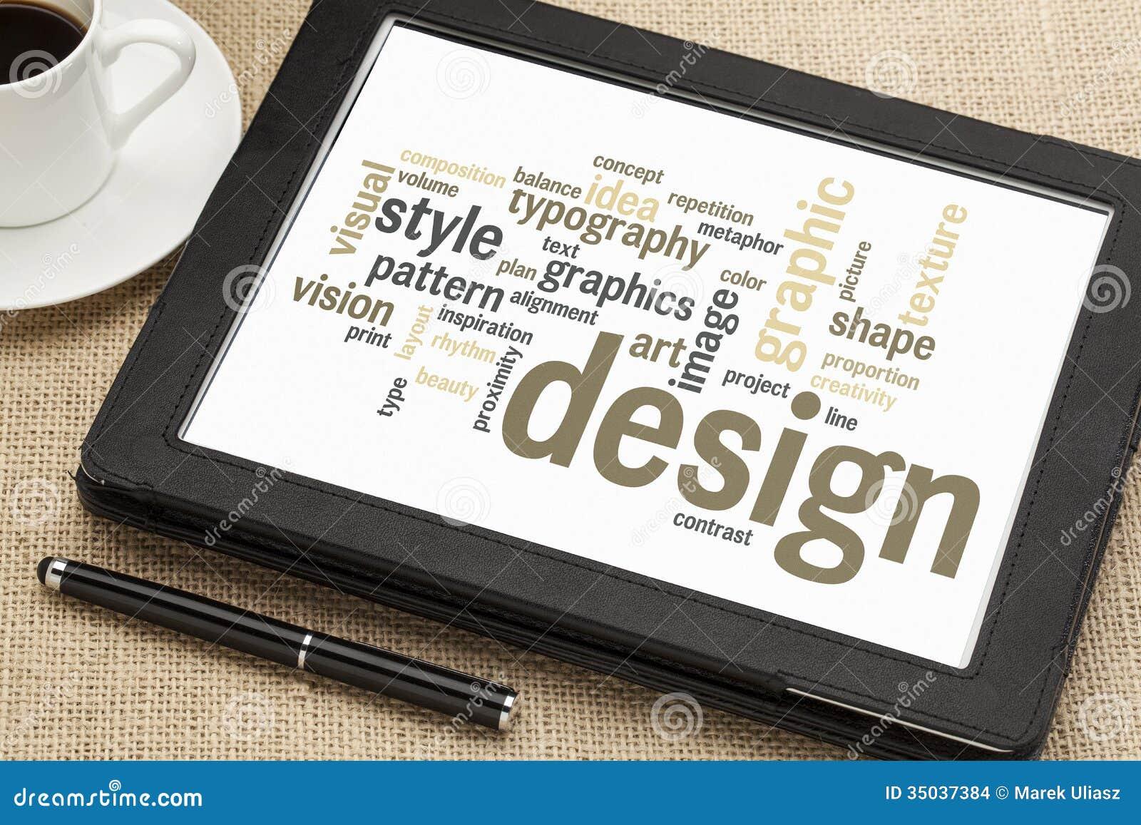 Nube de la palabra del diseño gráfico