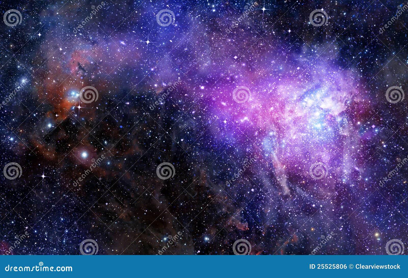 Nube del gas de la nebulosa en espacio exterior profundo