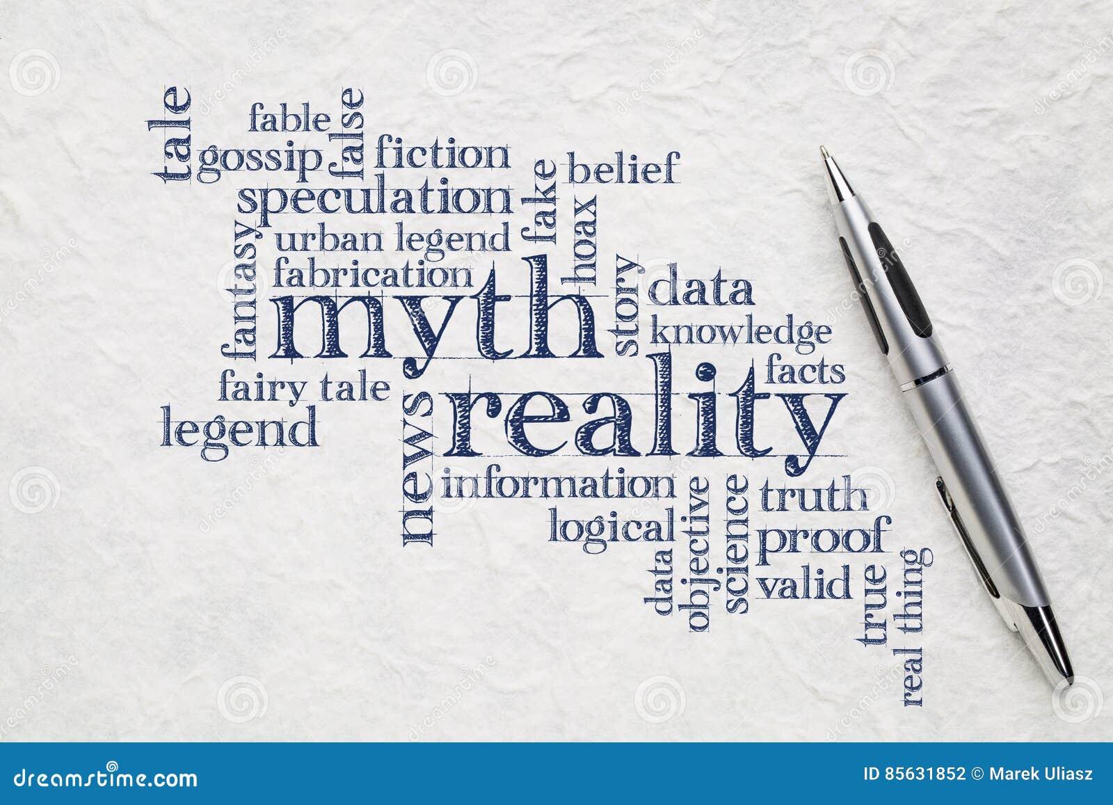 Nube del mito y de la palabra de la realidad