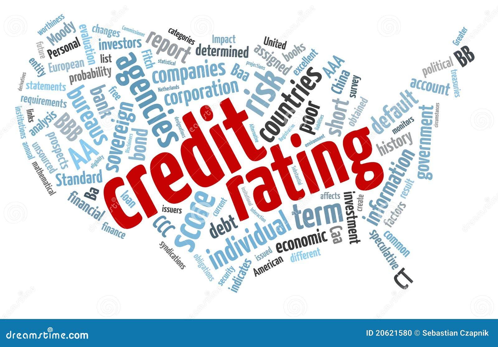 Nube di parola di stima del credito da accordare
