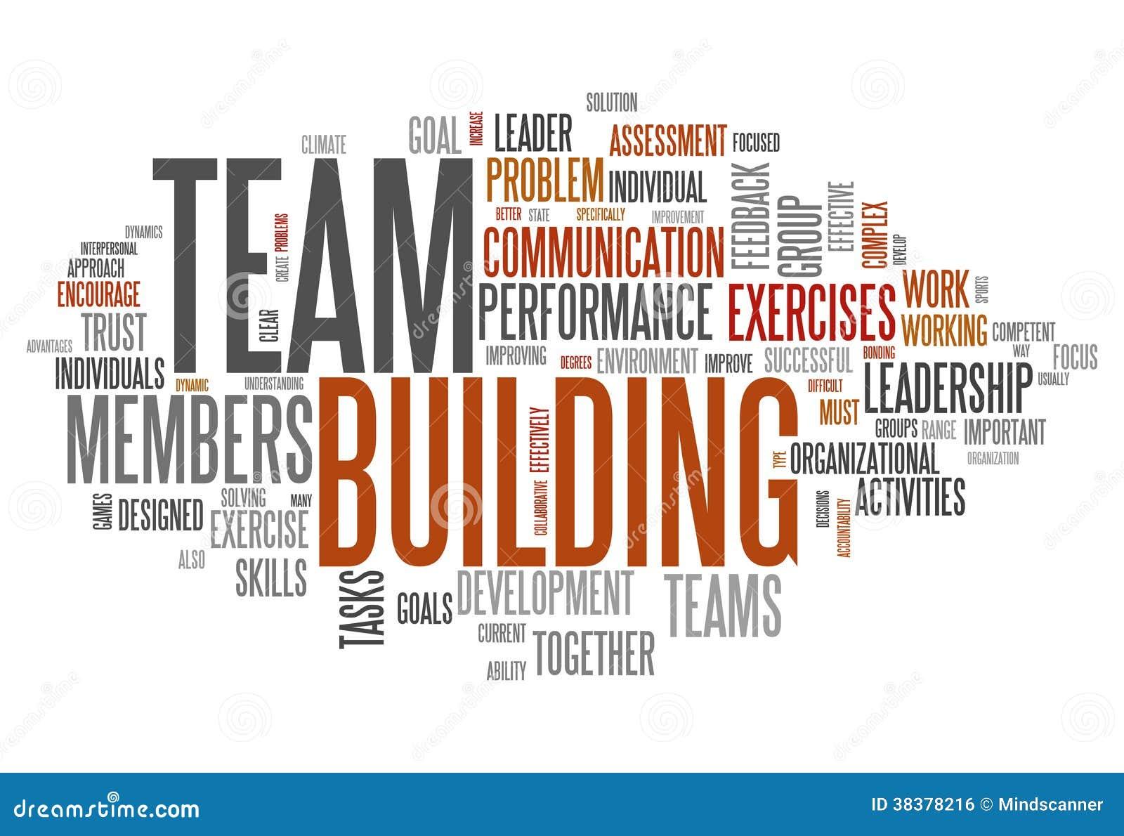 Nube Team Building de la palabra