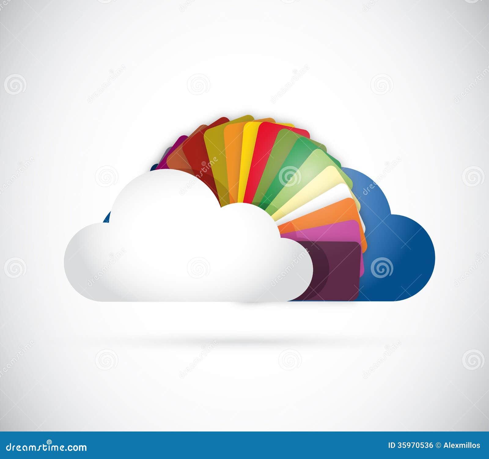 Nube y diseño del ejemplo de colores