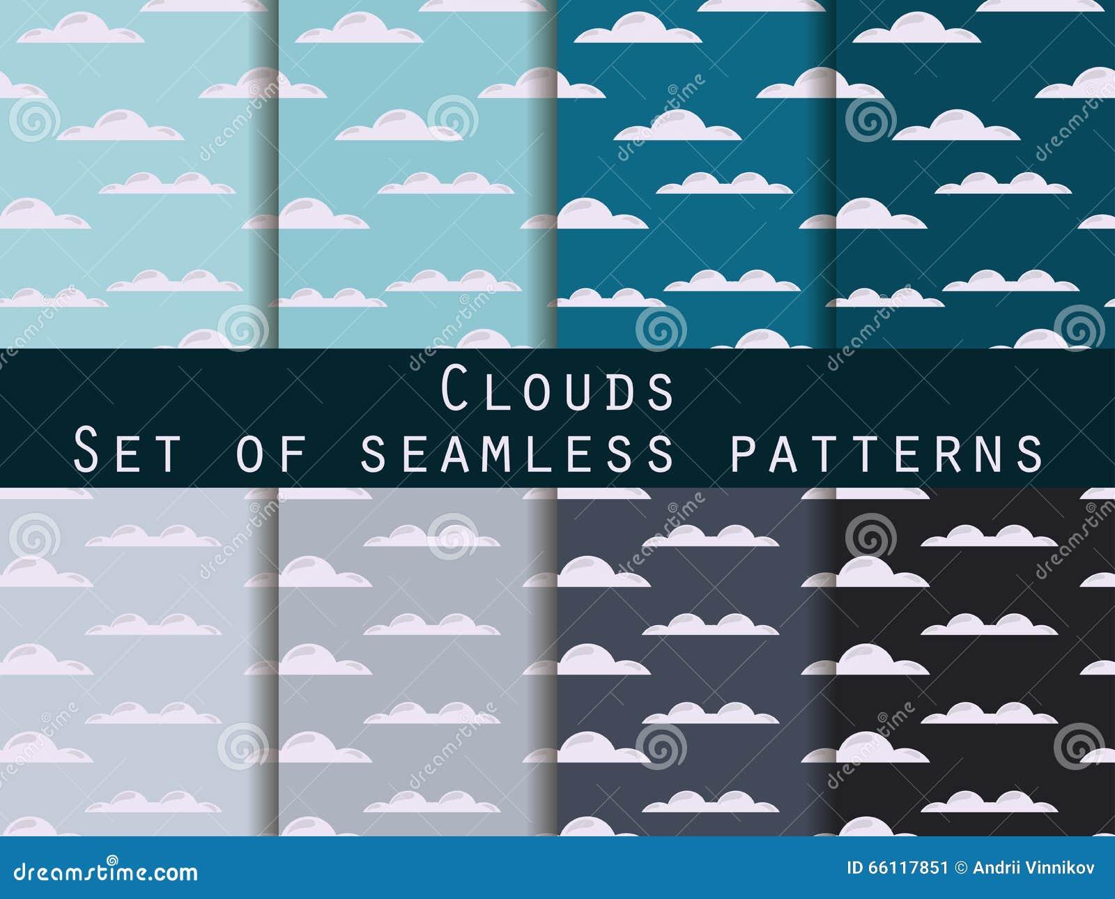 Nubes conjunto de modelos incons tiles el modelo para el - Modelos de papel pintado ...