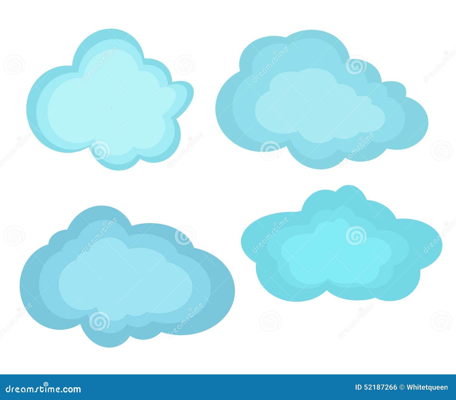 Nubes de los ejemplos del vector ilustraci n del vector - Imagenes de nubes infantiles ...
