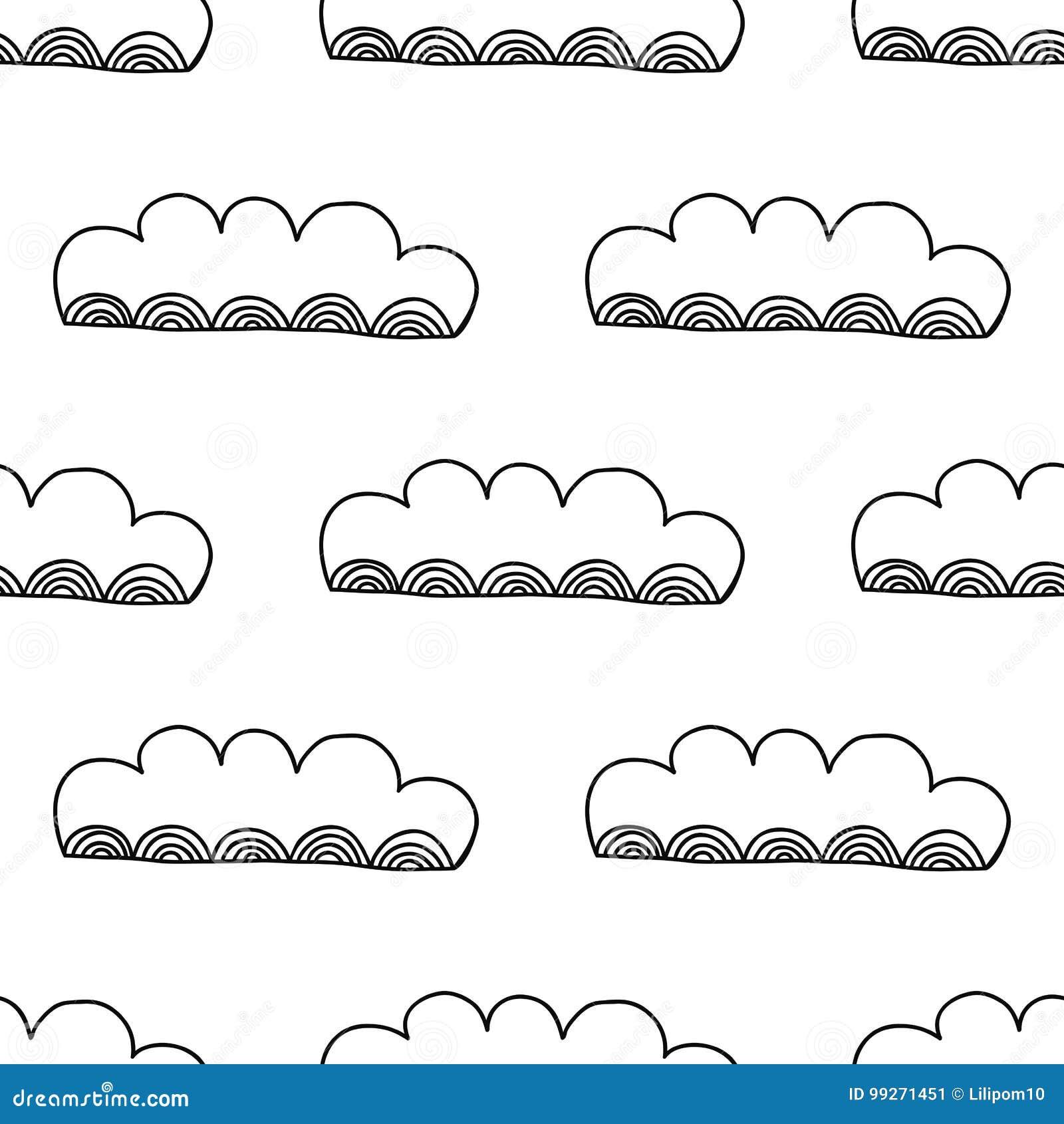Moderno Colorear Nubes De Páginas Elaboración - Enmarcado Para ...