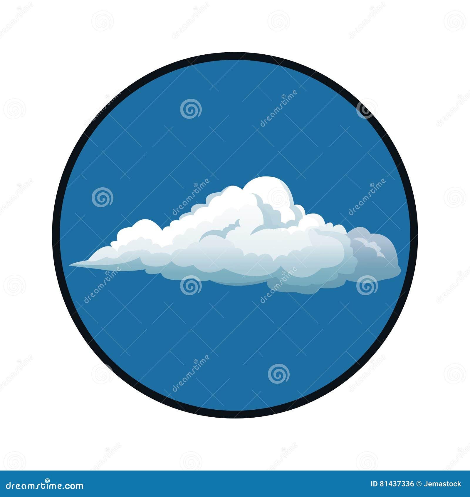 círculo blanco en el cielo
