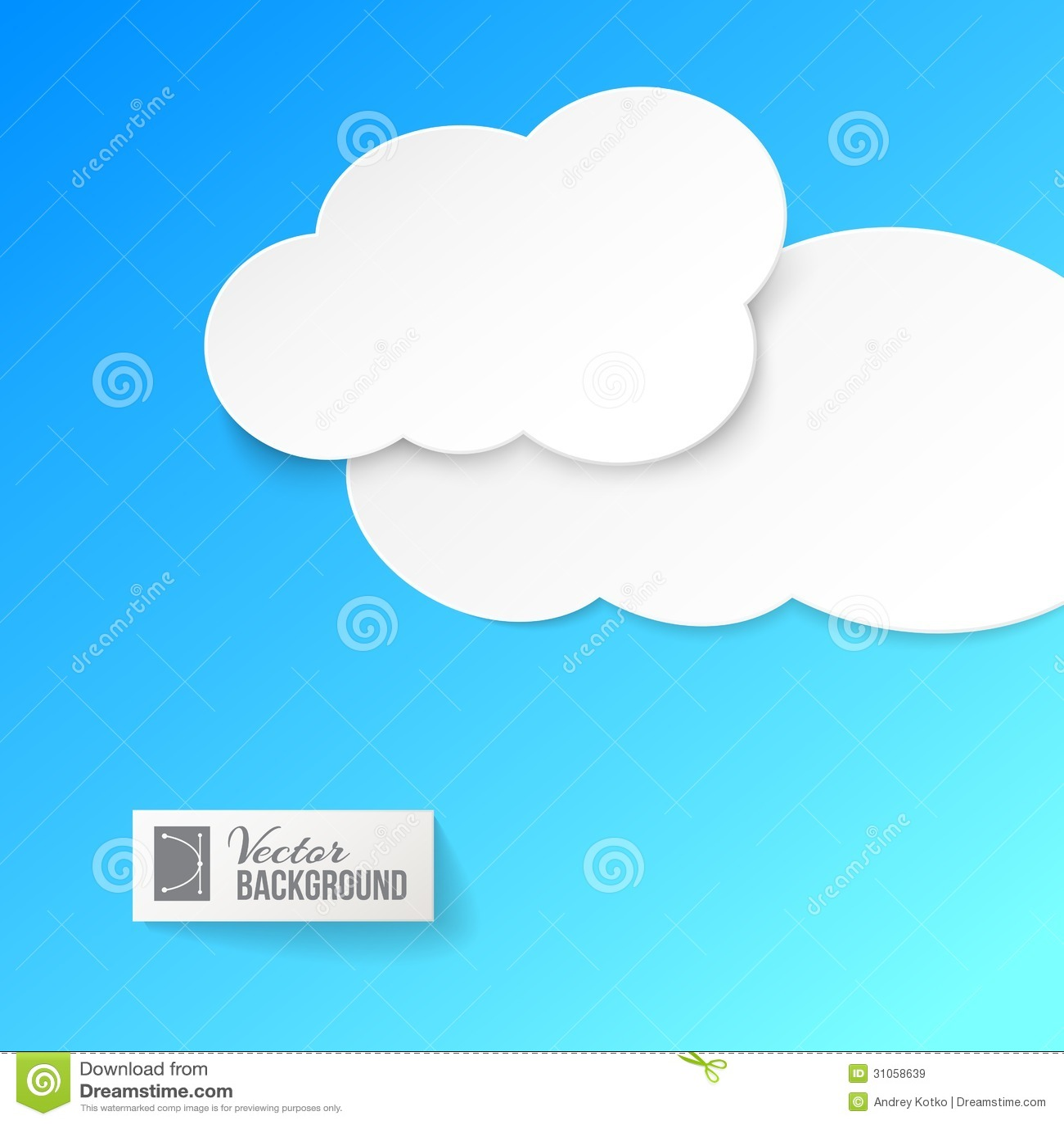 Nubes del Libro Blanco sobre azul.