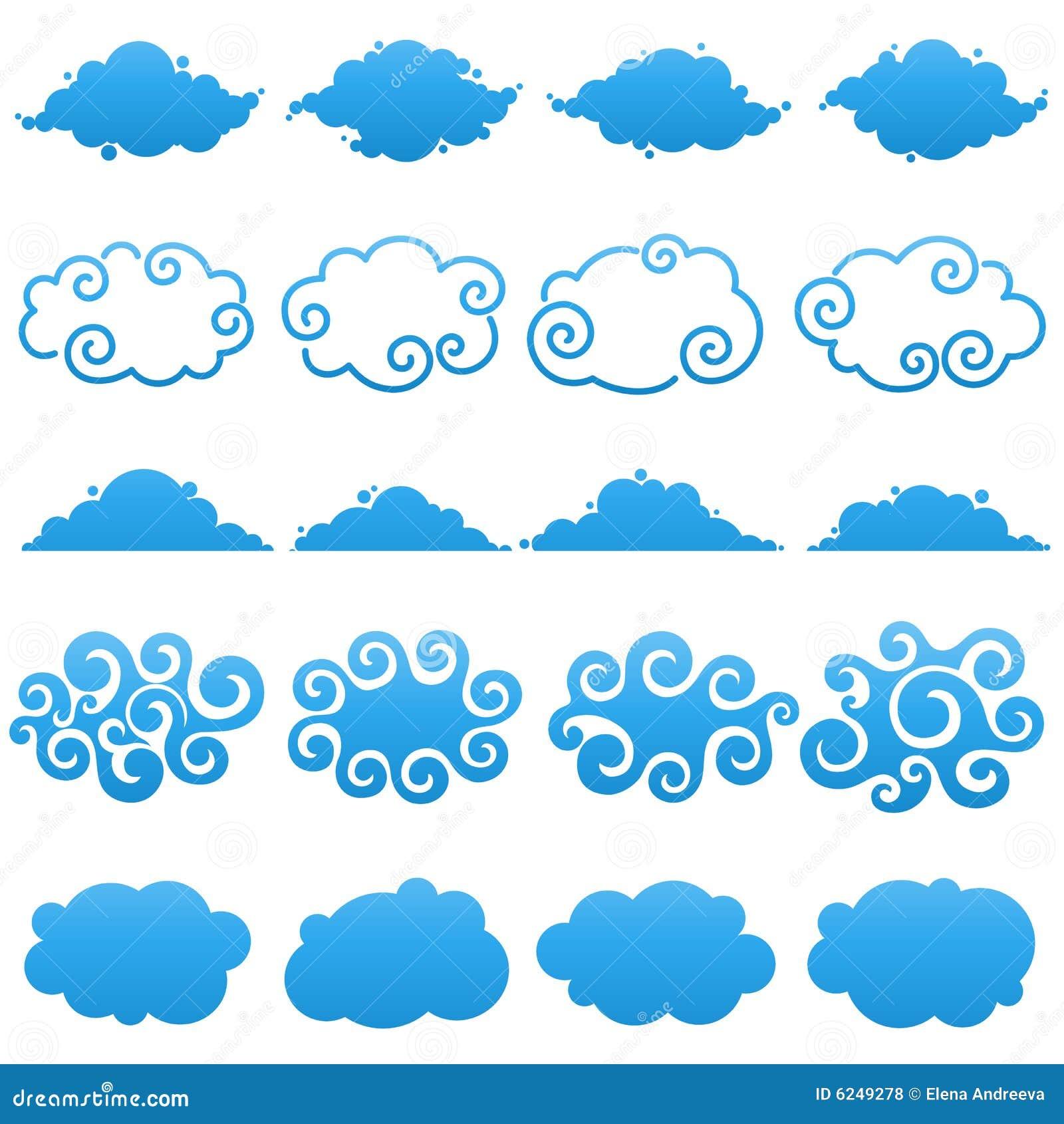 Nubes. Elementos para el diseño.