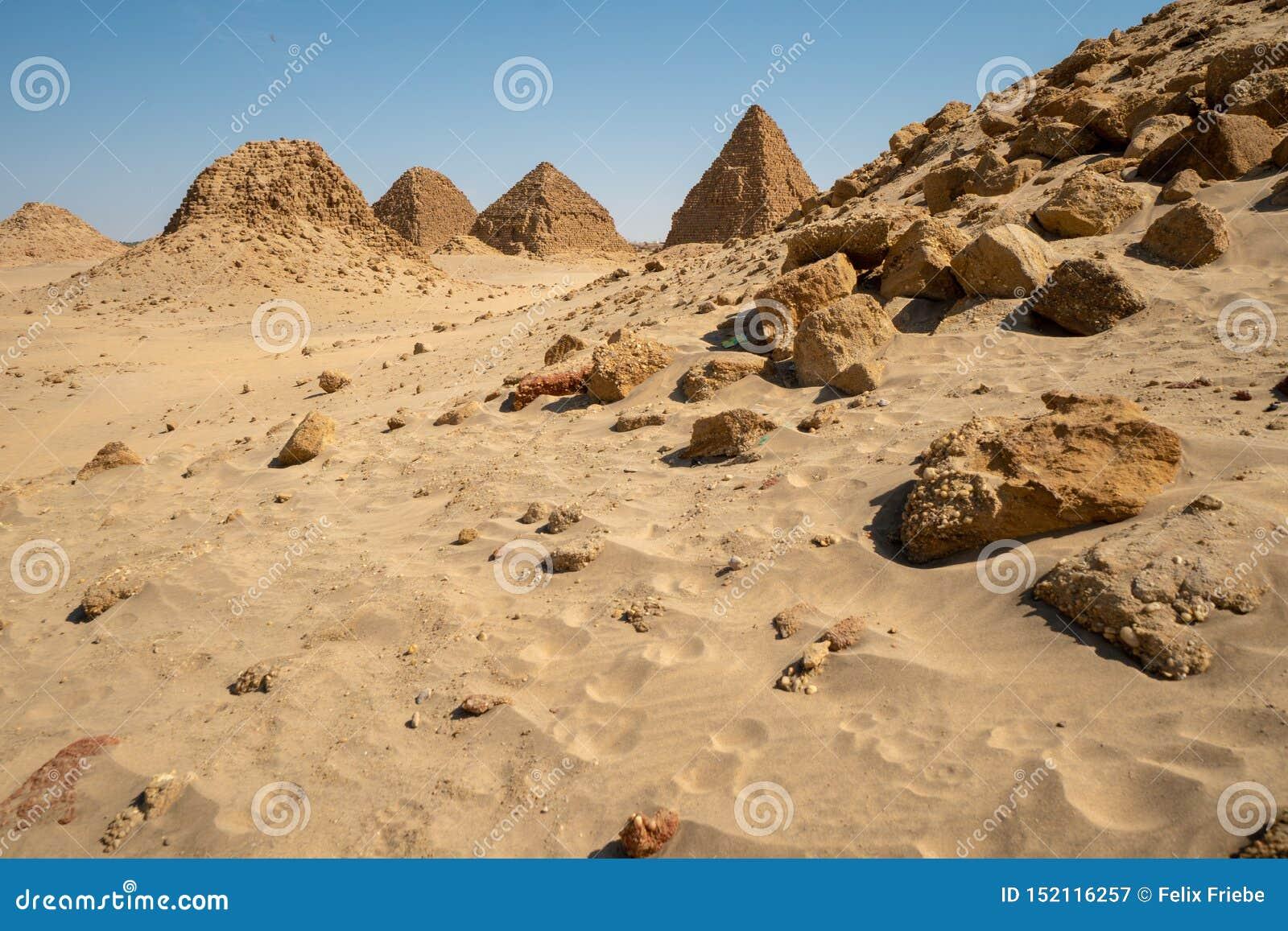 Nubian-Pyramiden im Sudan - dem Nuri