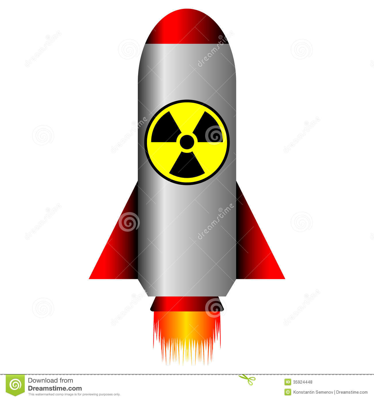Nuclear Ballistic Rocket Royalty Free Stock Photos - Image ...