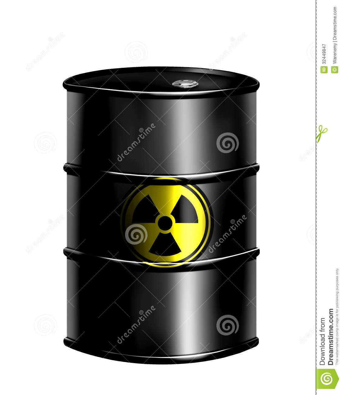 Nuclear Drum Royalty Free Stock Photography Image 32449847