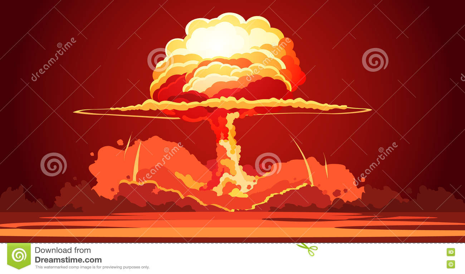 nuclear explosion mushroom cloud retro poster stock vector fireball clip art fire hall clip art