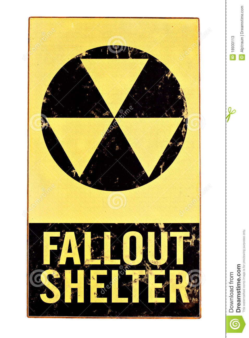Nuclear Fallout Shelter Sign Isolated On White Stock ...