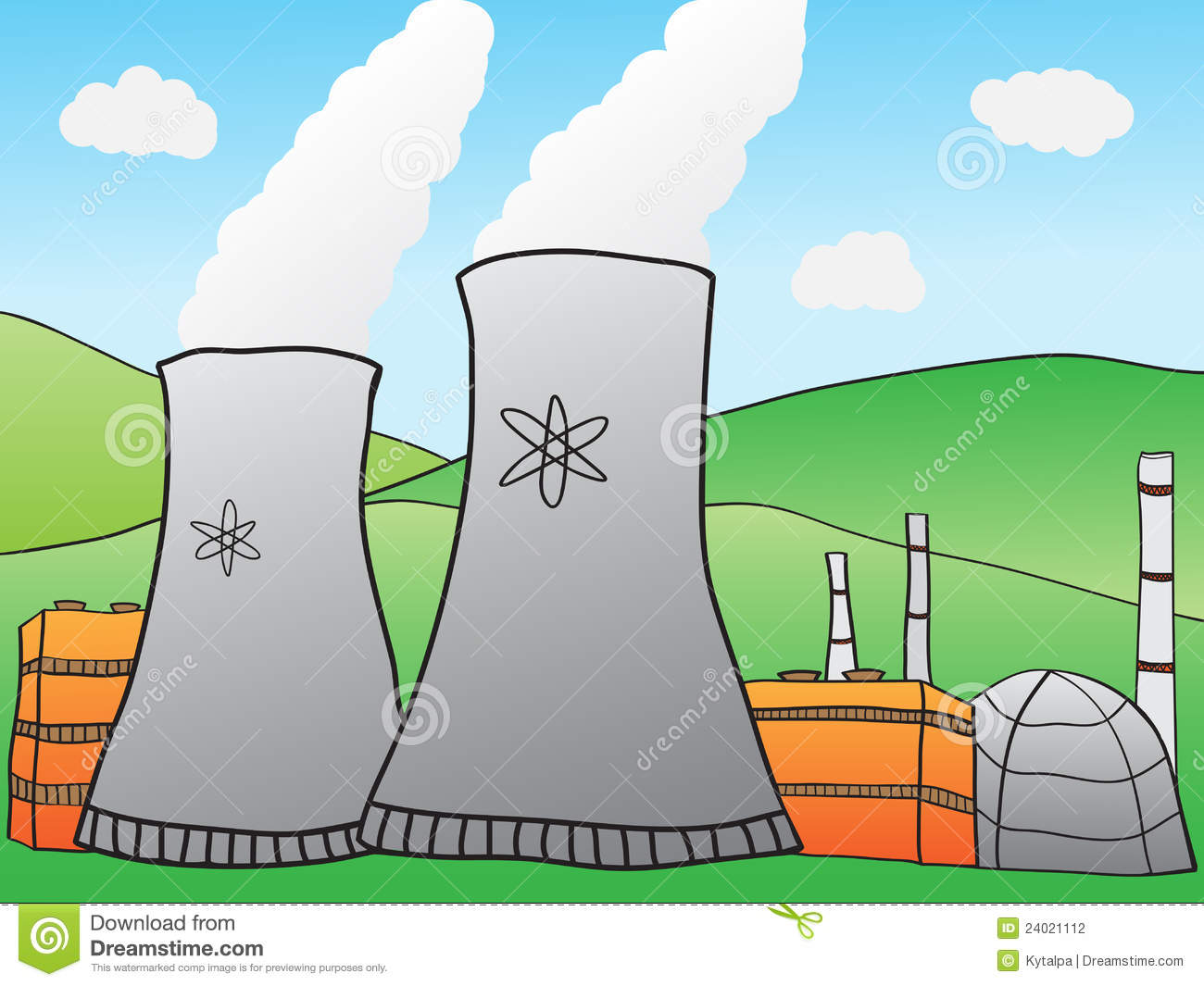 Nuclear Power Plant stock vector. Illustration of ...