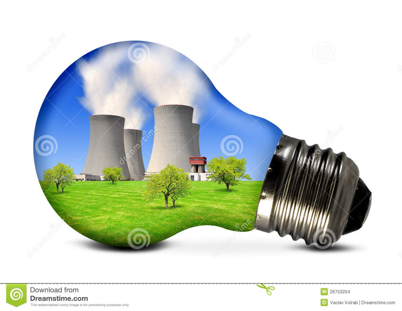 Nuclear Energy Clipart Nuclear power plant in bulb