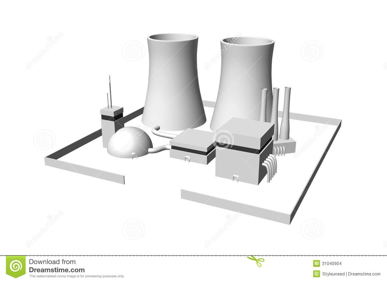 Nuclear Power Plant Stock Photo Image Of Industrial 31040904 Diagram Animation