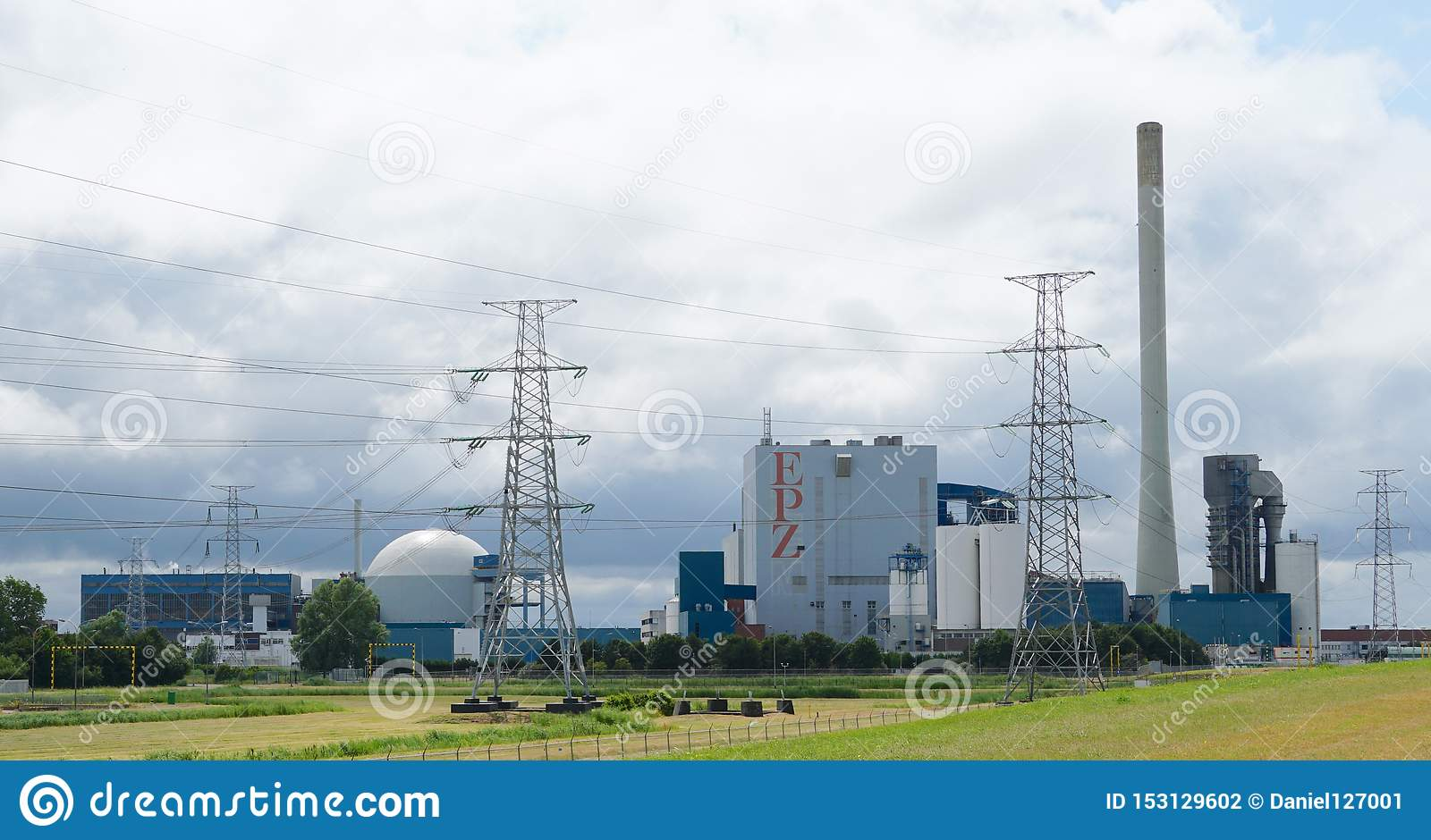nuclear power plant near borssele in the netherlands editorial photography  - image of reactor, turbine: 153129602  dreamstime.com