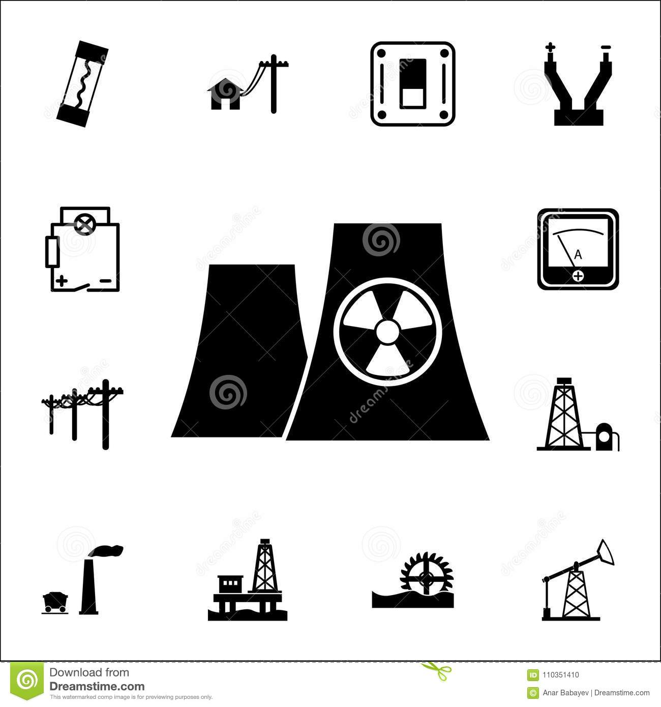 Nuclear power plant silhouette icon set of energy icons premium nuclear power plant silhouette icon set of energy icons premium quality graphic design icons signs and symbols collection icons biocorpaavc Gallery